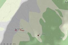 Avenul de sub Vârful Grind - hartă suprafață (ansamblu)